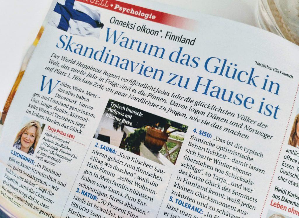 """Artikel Tarja Prüss """"Glückliches Finnland"""""""